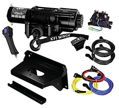 KFI Combo Kit - SE45w-R2 4500lbs Wide Stealth Winch & Mount - Kawasaki KAF820 - 820 Mule Pro-FX, Pro-FXR, Pro-FXT
