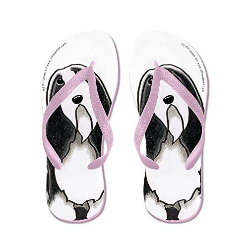 CafePress beardie Cartoon - Flip Flops, Funny Thong Sandals, Beach Sandals Pink