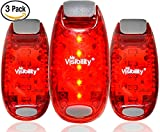 LED Safety Lights (3 Pack) + FREE Bonuses | Strobe Light Bike, Running, Dogs, Walking | The Best High Visibility Accessories for Your Reflective Gear, Bicycle Helmet, Runner Vest, Pet Collar
