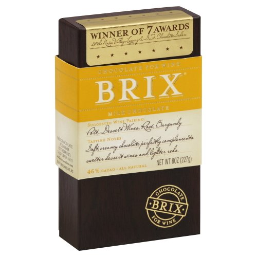 Brix Chocolate Bar for Wine, Milk 8.0 OZ (Pack of 2)