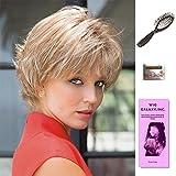 Nori by Noriko, Wig Galaxy Hair Loss Booklet, Wig Cap, & Loop Brush (Bundle - 4 Items), Color Chosen: Copper Glaze R