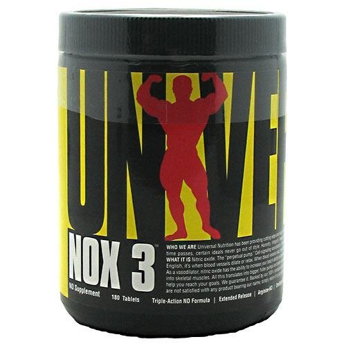 Universal Nutrition NOX 3 180 tablets by Universal Nutrition