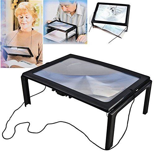 A4 Full Page Large Hands Free Magnifier Magnifying Glass ...