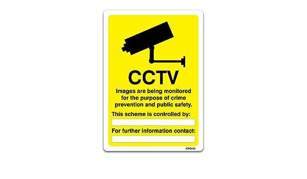 CCTV vigilancia información Sign - Vehículo y locales muestras por stika. co, vinilo, 210mm x 297mm A4: Amazon.es: Bricolaje y herramientas