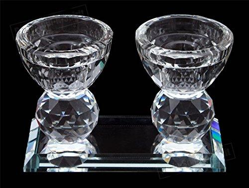 (Holy Special Judaica Jewish Crystal shabbat Sabbath Shabbos Candlesticks Gift)