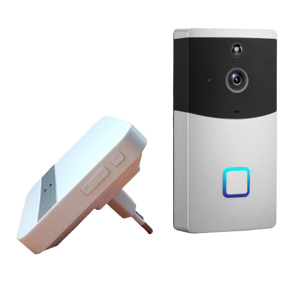 D DOLITY Drahtlose Wifi Video Türklingel Intercom mit Nachtsicht, EU Stecker