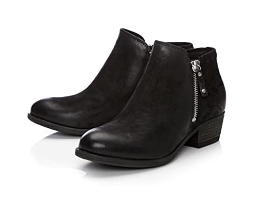 Moda in Pelle besti black leather ankle boots with outside zip   Amazon.co.uk  Shoes   Bags efa7fda3e456