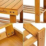 Homemaid Living Bamboo 3 Tier Shoe Rack