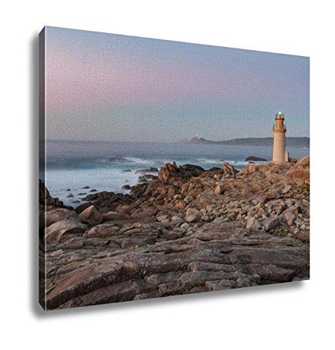 Ashley Canvas, The Lighthouse Of Muxia At Sunset Muxía A Coruna Spain, Kitchen Bedroom Dining Living Room Art, 24x30, AG6253198 by Ashley Canvas