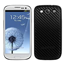 kwmobile Carbon look battery back cover for the Samsung Galaxy S3 / S3 Neo in black colour – complements the design of your Samsung Galaxy S3 / S3 Neo