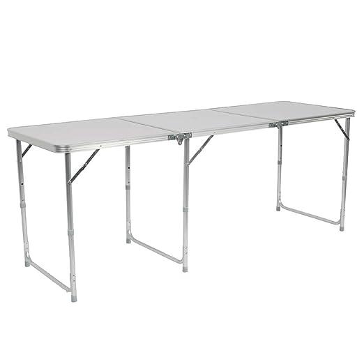 Mesa Plegable de aleación de Aluminio, 180 x 60 x 70 cm, Color ...