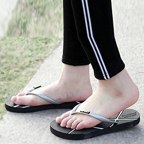 Hatop Unisex Menns Sommer Kvinners Flip-flops Tøfler Strand Sandaler Fritidssko Grå