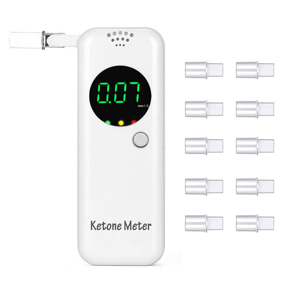Portable Breath Ketone Meter with 10 Replaceable Mouthpieces