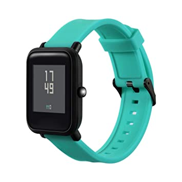 Zolimx Reemplazo de Correa de Correa Suave Silicagel Pulsera de Banda para Xiaomi Huami Amazfit Bip Youth Watch (Verde)