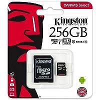 كينجستون بطاقة ذاكرة متوافقة مع متعدد - بطاقات وسائط متعددة - 256 جيجابايت SDCS/256GB
