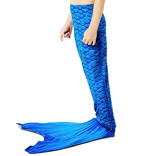 Play Tailor Mermaid Tail Swimmable Costume Swimsuit for Girls Swimming (No Monofin)