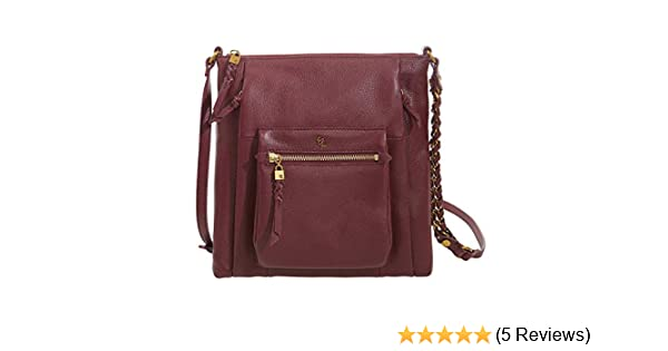 bde1fd4e8 Amazon.com: Elliott Lucca Gwen Leather Crossbody Handbag - Cabernet: WCLA