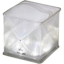 Solight Design TwiLight Portable Compact LED Solar Lantern, White/Red, 10 Pack (TwiLight10A)