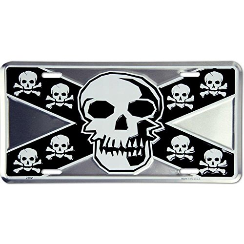 Signs 4 Fun Slrs Rebel Skull, License Plate