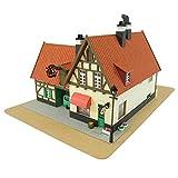 1/150 Kikis Delivery Service Bakery Gutiokipanja Gutiokipanya Paper Craft Kits Mk07-02 (japan import)