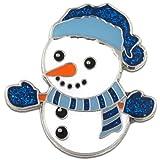 PinMart's Christmas Snowman Holiday Brooch Lapel Pin