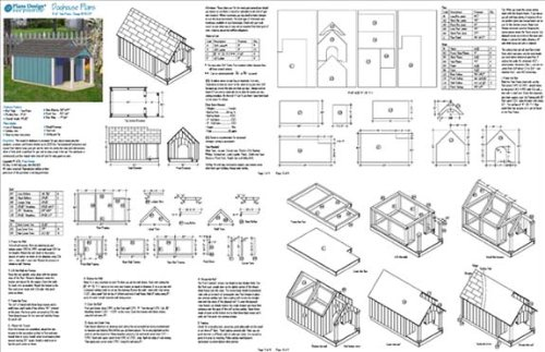 Dog House Project Plans, Gable Twin Roof Style with Porch, Pet Size ...