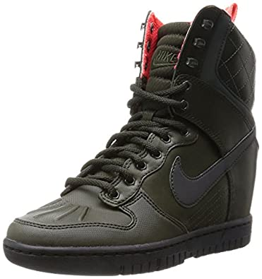 size 40 d5797 ce90f Nike Dunk Sky Hi 2.0 SneakerBoot Reflective 807401-300 Hidden Wedge Women  Boots