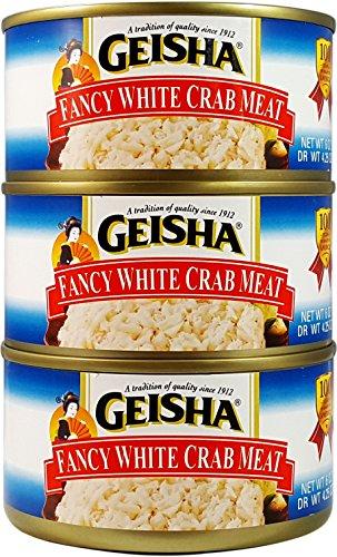 Fancy White Crab Meat, Wild Caught, 6 oz Can - Geisha - PARENT
