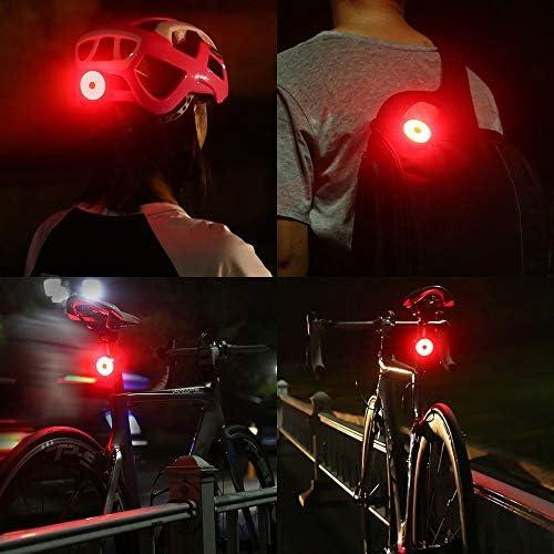 chargement USB Casque de v/élo de feu arri/ère t/émoin lumineux lumi/ère nuit Cinq modes de luminescence conception arri/ère clip