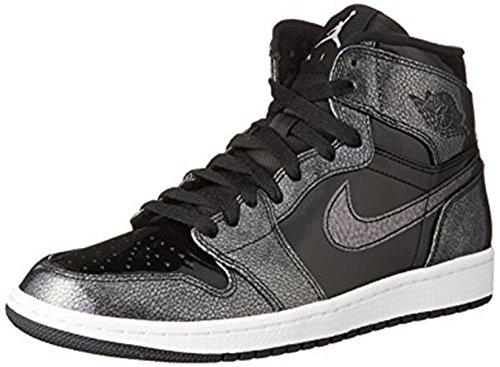 Nike Mens Air Jordan 1 Retro High Top Basketball Shoe Black/Black-White 10.5
