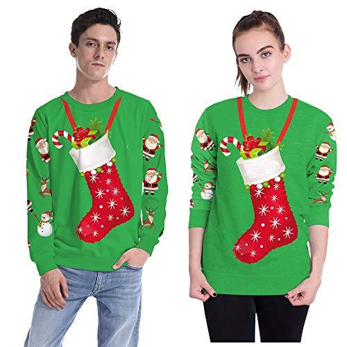 A Couple Manches Longues Sport Multicolore Top Vêtements Pour Sweat À Veste Capuche Décontractés Noël Imprimé Amuster De Décontracté UqTXCX