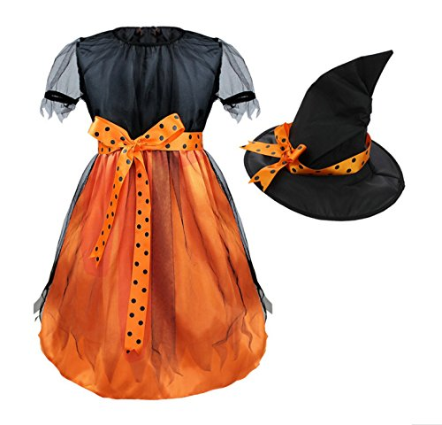 orange witch dress - 8