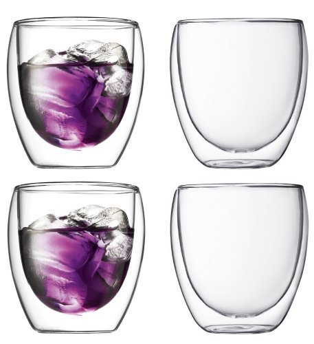 Bodum Pavina Double-wall Insulated 8.5-ounce Glasses, Set of 4