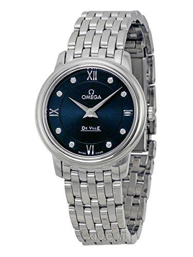 Omega-DeVille-Prestige-Blue-Diamond-Dial-Stainless-Steel-Ladies-Watch-42410276053001