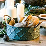 MeterMall Household Items Retro Iron Storage Basket with Handle for Bread Dessert Decoration