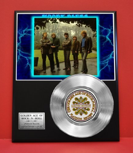 Moody Blues Limited Edition Platinum Record Display - Music Memorabilia Wallart - from Gold Record Outlet