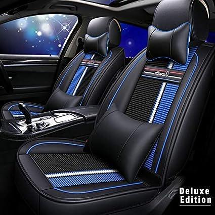 Muchkey 5 Places Ensembles de Housses de Si/ège Voiture Toute la Saison Ensemble Complet pour pour BMW E38 E39 E46 E52 E53 E60 E61 Imperm/éable Si/èges Auto et Accessoires Style B Noir Blanc