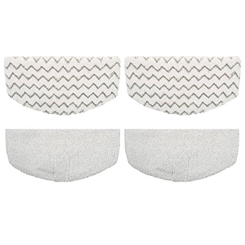 KHTO 4Pack Steam Mop Pads Replacement for Bissell Powerfresh Steam Mop 1940 1440 1544 Series, Model 19402 19404 19408 1940A 1940Q 1940T 1940W, Replace 5938 by KHTO
