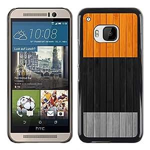 TopCaseStore / la caja del caucho duro de la cubierta de protección de la piel - Clean Colors Black Gray Grey Orange - HTC One M9