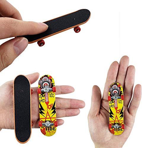 Gtlzlz 20pcs Professional Mini Metal Fingerboards/ Finger Skateboard, Unique Matte Surface Party Favors Novelty Toys for Kids Party Supplies (Random Pattern) by Gtlzlz (Image #4)