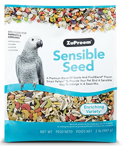 Conure Fruit Blend (Sensible Seed Bird Food for Parrots & Conures by ZuPreem - 2 lbs (907g))
