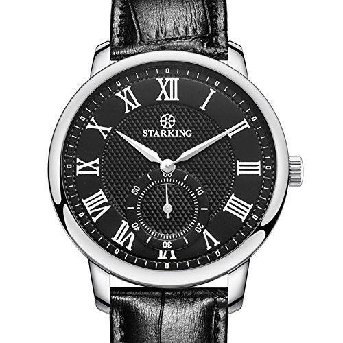 STARKING Top Brand Luxury Man Wrist Watch TM0906 Leather Watch Men Casual Roman Numerals Waterproof Watches Scratch Proof - Mens Brands Luxury Top