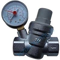 """La presión del agua válvula de reducción de 3/4""""hembra de 22 mm de tubería con manómetro"""