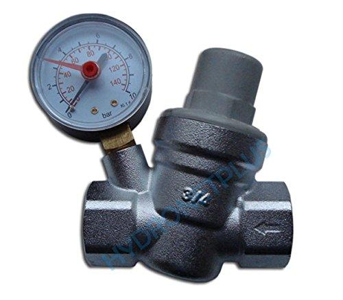 La pression d'eau soupape de ré duction de 3/4 'femelle pour tuyau de 22 mm avec manomè tre Goshe