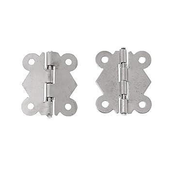 - Silber 3,2 x 2,7 cm 5 Stk Deko-Beschläge Scharniere