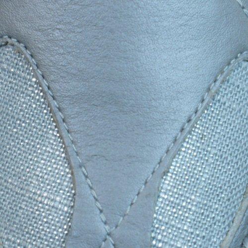 Puma Ferali Metallic mujeres zapatillas de deporte de cuero - plata Silver