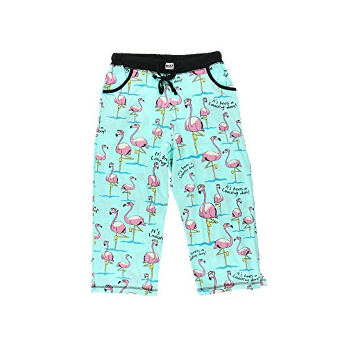 It's Been A Looong Day Flamingos Women's Capri Pajama Pant Bottoms by LazyOne  