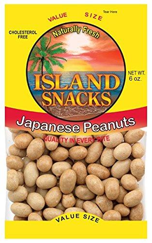 Island Snacks Peanuts, Japanese, 6-Ounce (Pack Of 6)