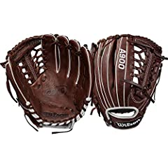 """The new 11.75"""" A900 Baseball glove is made for young, advanced ball players looking to get an edge on the diamond. This model, available in a left- and right-hand throw, comes with a Pro laced T web and can be used all over the diamond. Wilso..."""
