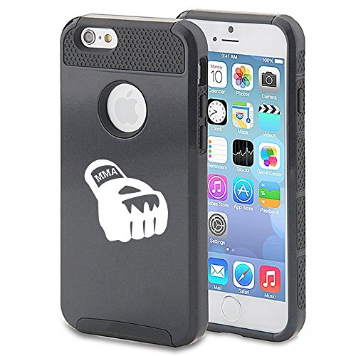 For Apple iPhone 6 6s Shockproof Impact Hard Case Cover MMA Boxing Glove (Black)